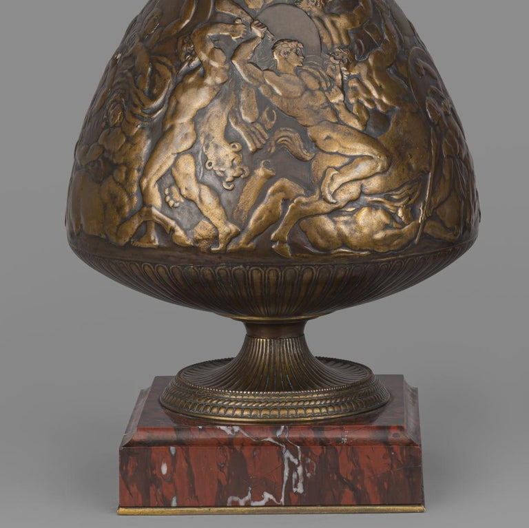 Bronze Vases by Ferdinand Levillain and Ferdinand Barbedienne, French, 1880 In Good Condition For Sale In London, GB