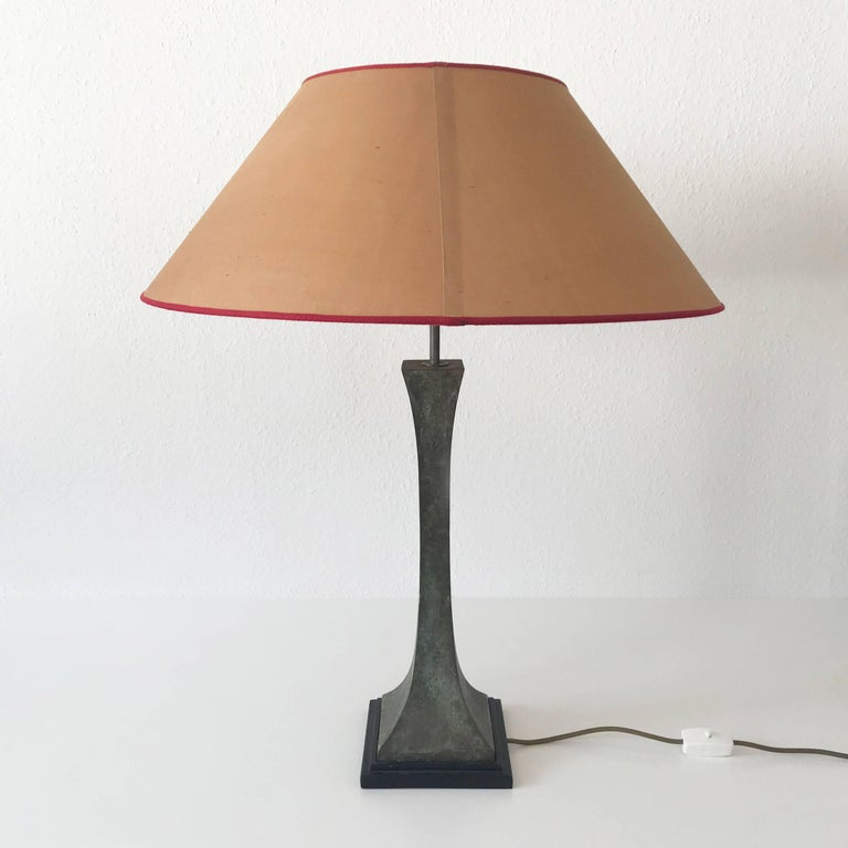Bronze Verdigris Table Lamp by Stewart Ross James for Hansen Lighting, NY, 1960s In Good Condition For Sale In Munich, DE