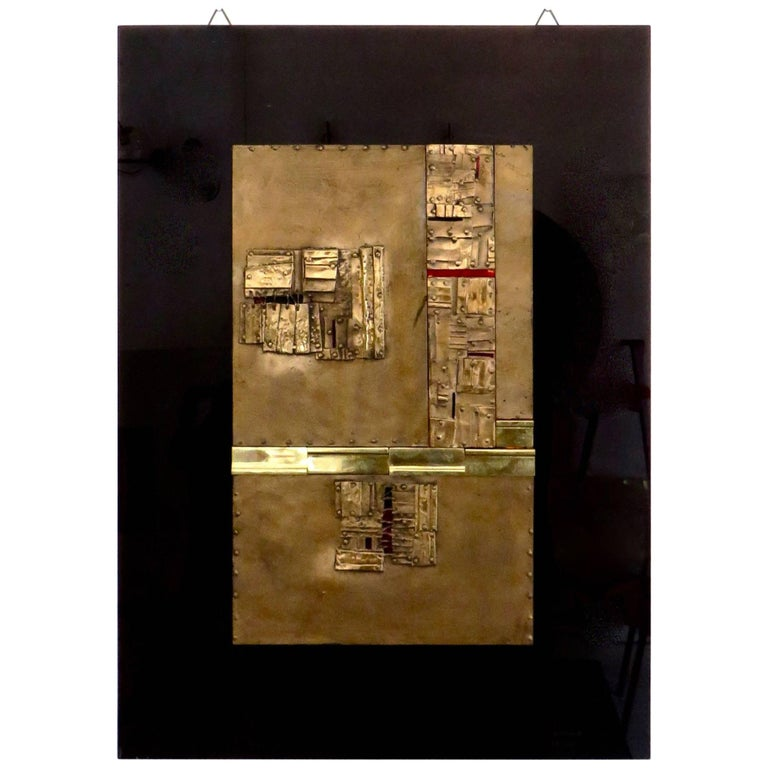 Bronze Wall Painting Sculptures by Esa Fedrigolli Italy 1985 Signed Numbered For Sale