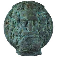 Bronze Wall Plaque / Mask of Zeus, 20th Century