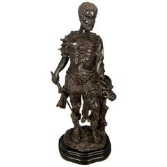 Bronze Warrior Holding Demi-Human Beast Head, 20th Century