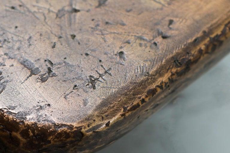 Bronze Wishbone Coffee Table Monogrammed AH For Sale 6