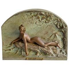 Bronze Woman 'Avant Le bain' Alliot