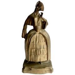 Bronze Woman Sculpture Bookend
