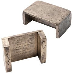 Bronze Workers Stools by Bahraini-Danish and Fonderia Artistica Battaglia