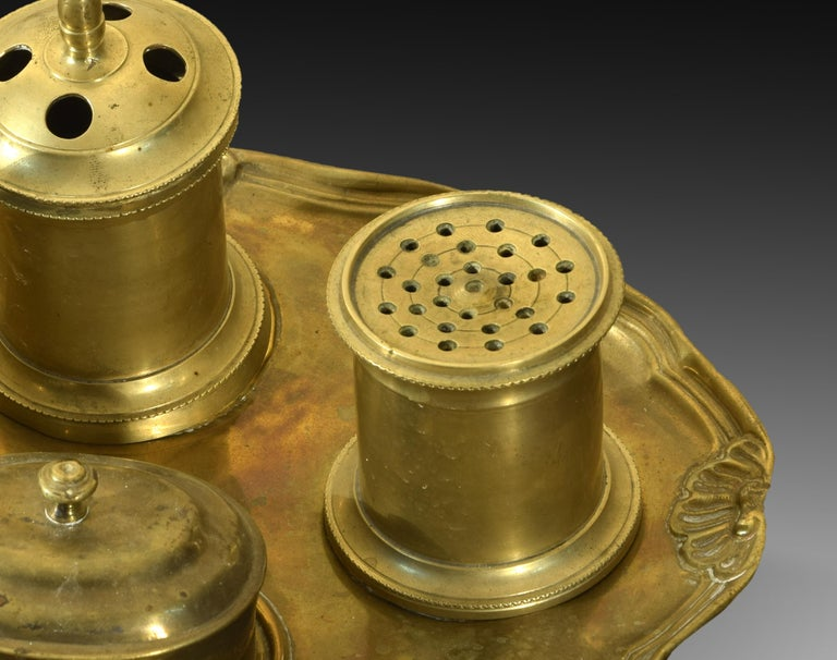 European Bronze Writing Set, 19th Century For Sale