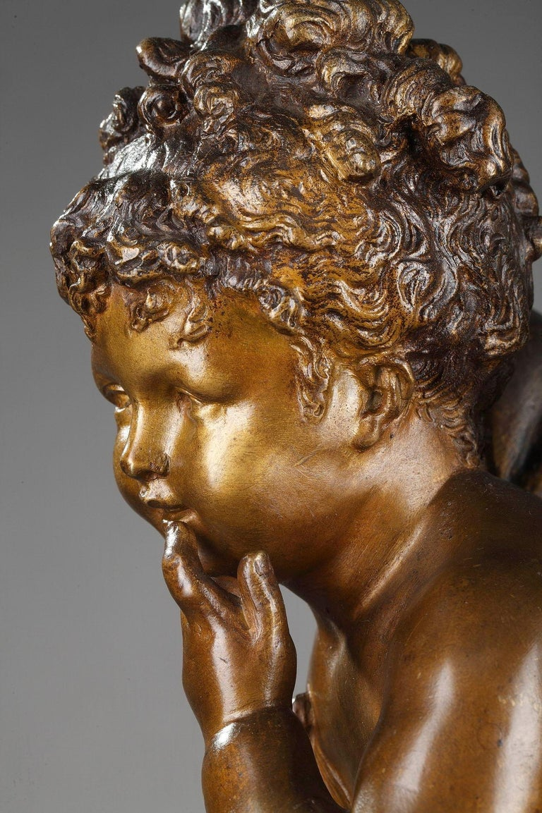 Bronze Figure of Young Psyche by Paul Duboy For Sale 5