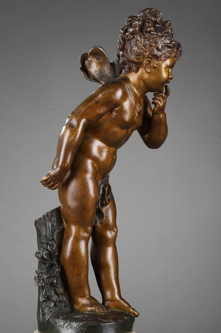 French Bronze Figure of Young Psyche by Paul Duboy For Sale