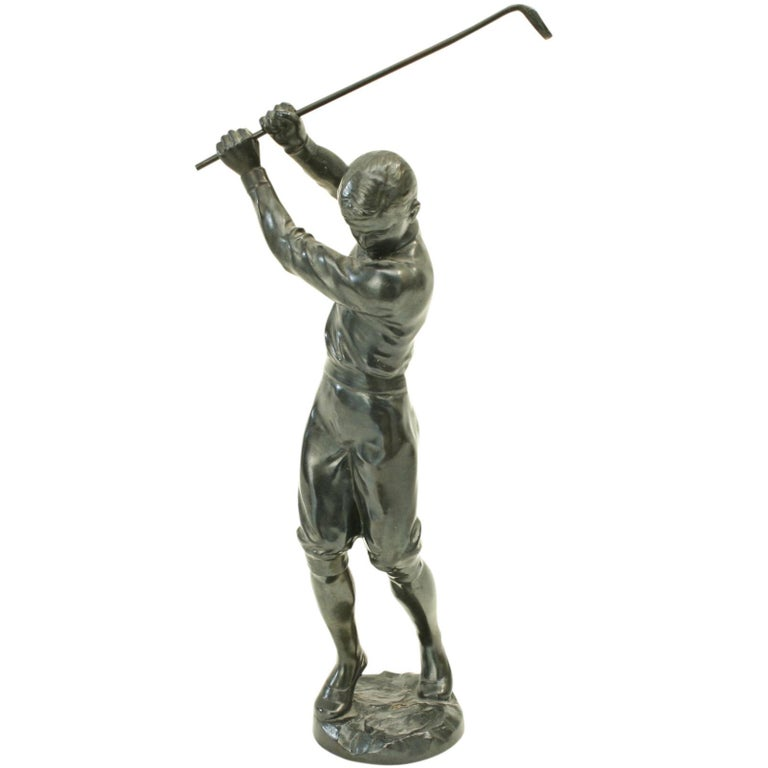 Bronzed Statue of a Boy Golfer For Sale