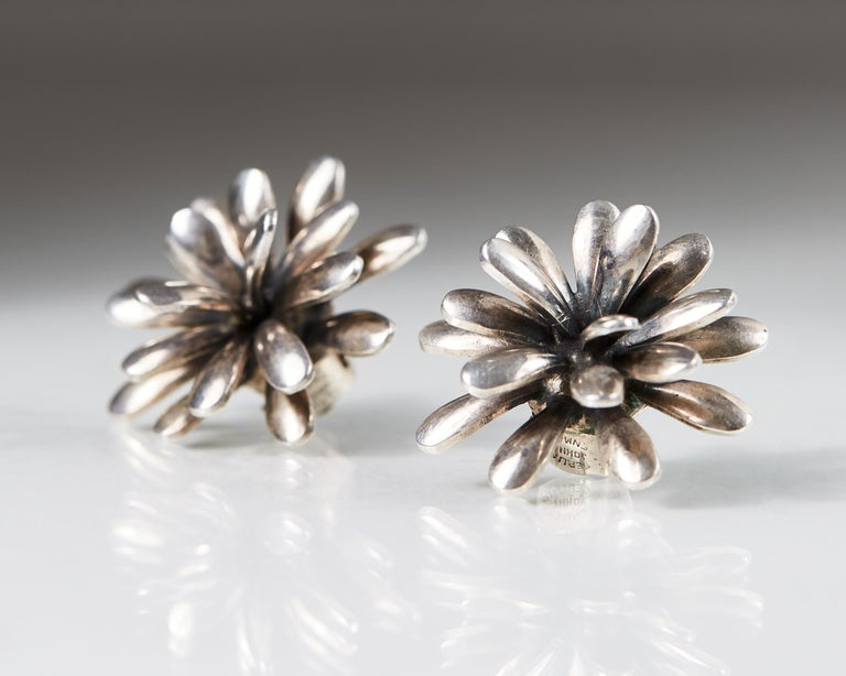 Brooch and Earrings Designed by Anton Michelsen, Denmark, 1950s In Good Condition For Sale In Stockholm, GB