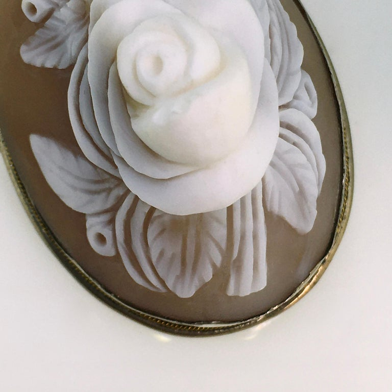 Brooch, Antique, Silver, Shell Cameo, 1900 For Sale 1
