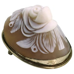 Brooch, Antique, Silver, Shell Cameo, 1900