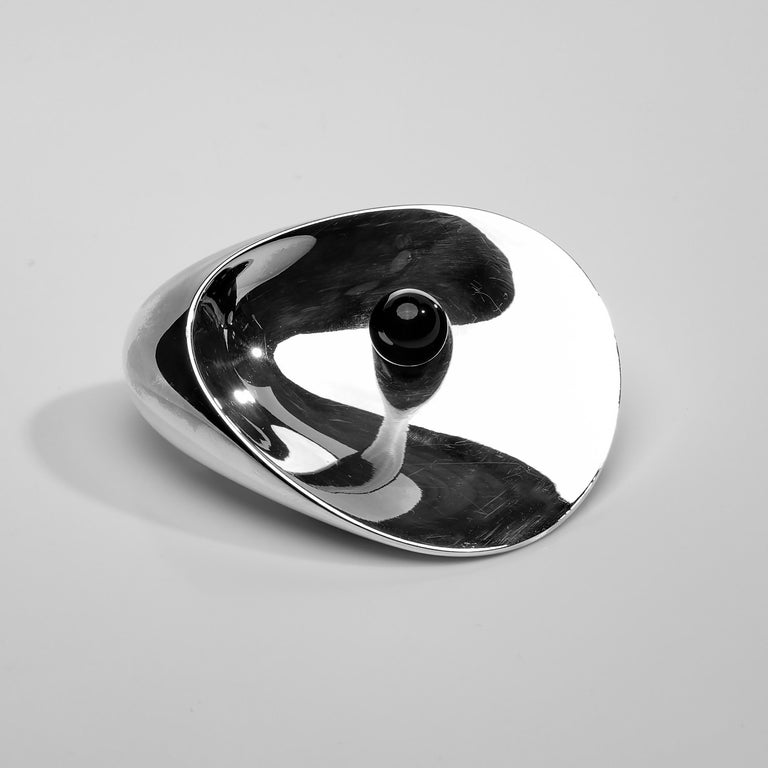 Round Cut Brooch by Nanna and Jørgen Ditzel for Georg Jensen For Sale