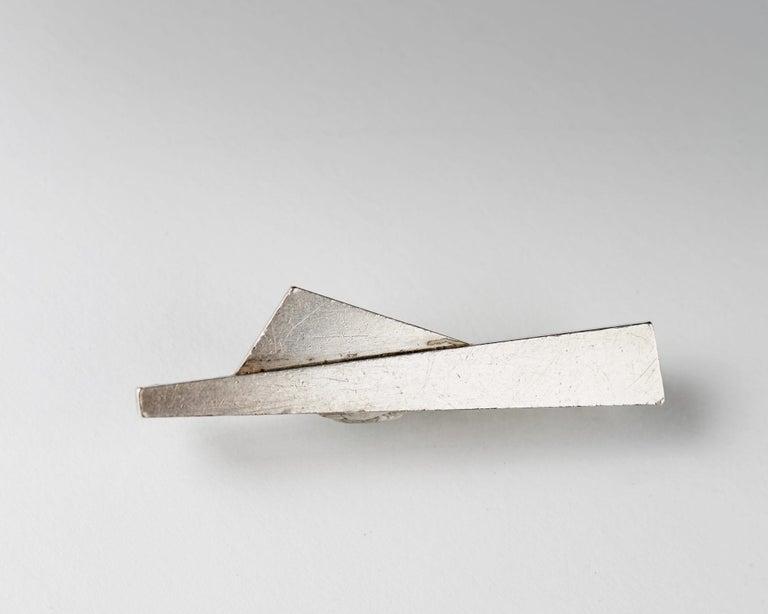 Modern Brooch by Wiwen Nilsson for Georg Jensen, Denmark, 1956 For Sale