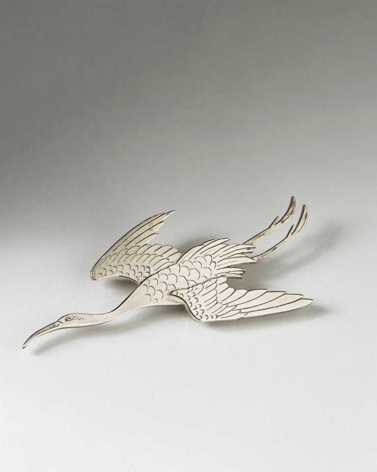 Modern Brooch, Designed by Wiwen Nilsson for Anders Nilsson For Sale