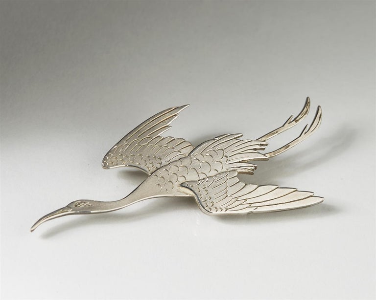 Brooch, Designed by Wiwen Nilsson for Anders Nilsson In Excellent Condition For Sale In Stockholm, SE