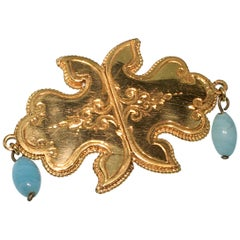 Brooch, Gold, Antique, Calcedony, Dutch Custom Jewelry