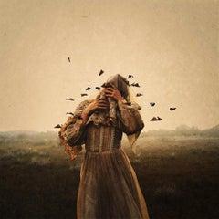 Release, Brooke Shaden-Figurative w Butterflies, Digitally Altered Self-Portrait