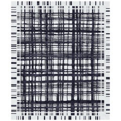 Brookfield Ink Hand-Knotted Wool and Silk 9 x 12ft Rug