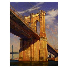 """""""Brooklyn Monolith"""" Original Oil Painting by Greg Parker"""