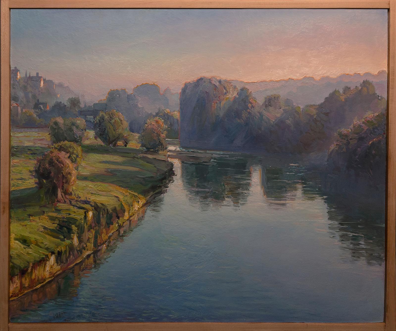 DAYBREAK - Contemporary Impressionist landscape - water