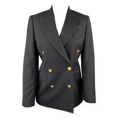 BROOKS BROTHERS by LORO PIANA Size 2 Navy Wool Double Breasted Jacket