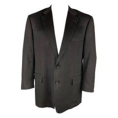 BROOKS BROTHERS by LORO PIANA Size 46 Black Cashmere Notch Lapel Sport Coat