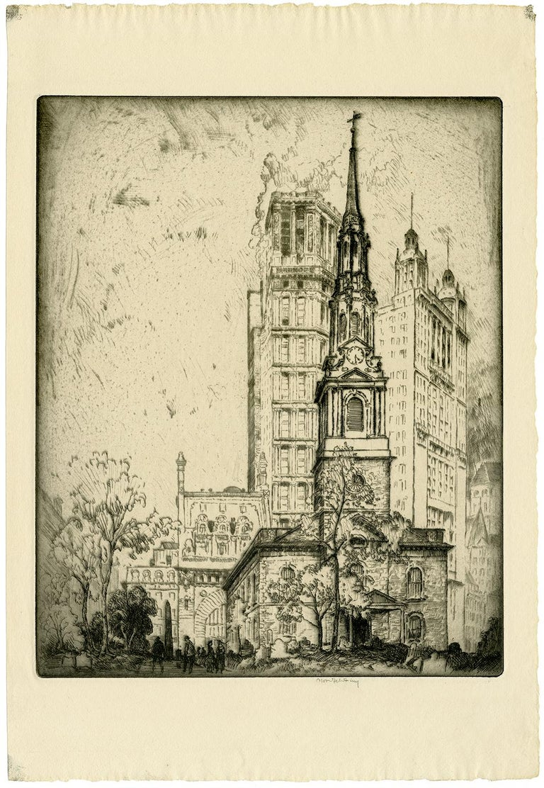 St. Paul's Church (St. Paul's Chapel, New York City) - Print by Bror Julius Olsson Nordfeldt