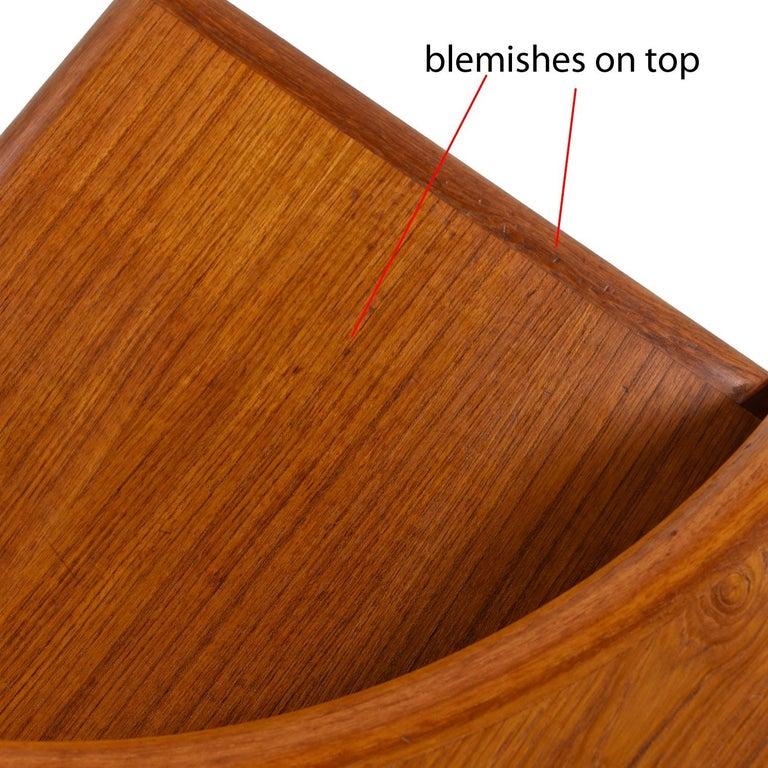 Brouer Mid-Century Modern Danish Teak Nightstands with Extending Table Top 4
