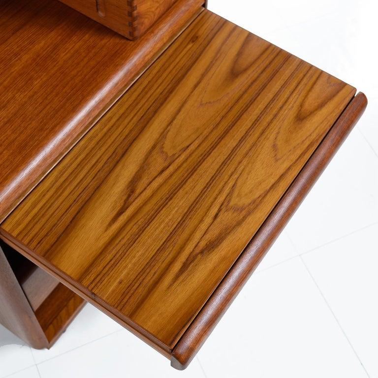 Brouer Mid-Century Modern Danish Teak Nightstands with Extending Table Top 1
