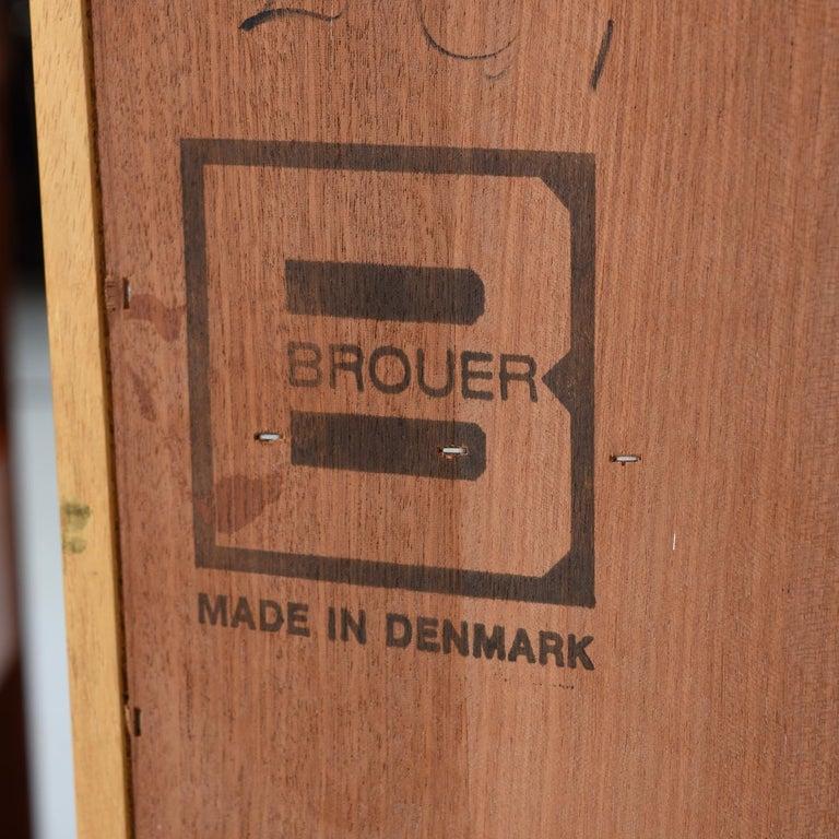Brouer Mid-Century Modern Danish Teak Nightstands with Extending Table Top 3