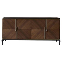 Brown 4-Door Sideboard