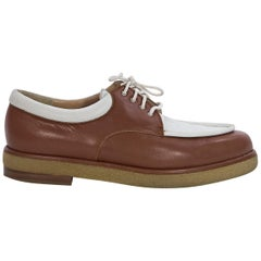 Brown and Beige Walter Steiger Leather Shoes