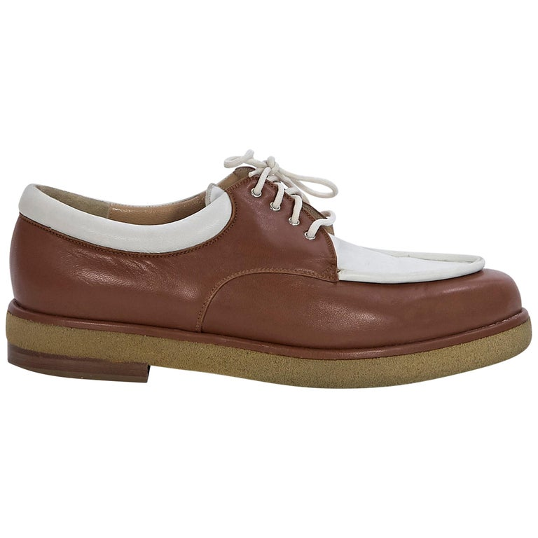 d39db42393d2b Brown and Beige Walter Steiger Leather Shoes