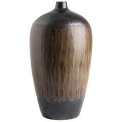 Brown and Black Streak Glazed Vase, China, Contemporary