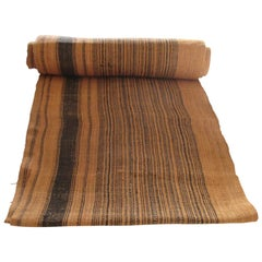 Brown and Black Stripes Handwoven Textile Roll