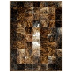 Brown and Black Versatile Desnudo Cowhide Area Floor Rug X-Large