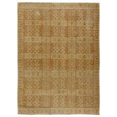 Brown and Cream New Samarkand Carpet