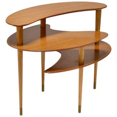 Brown and Saltman Tri-Level End Table by John Keal