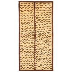 Brown and Tan Wool Tiger Area Rug