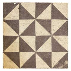 Brown and White Geometric Tiles