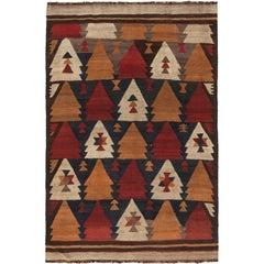 Brown Antique Etno Kilim Rug