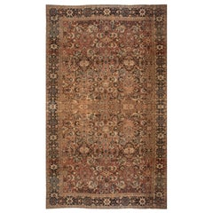 Brown Antique Persian Sultanabad Carpet