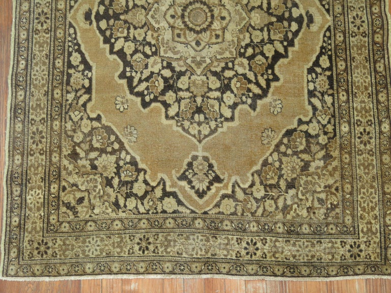 An early 20th century authentic antique Persian Tabriz rug. If your are fond of brown then this is the perfect rug.
