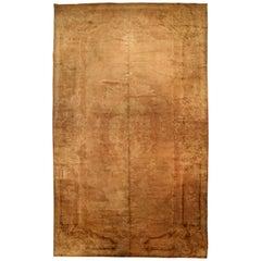Brown Antique Savonnerie Carpet