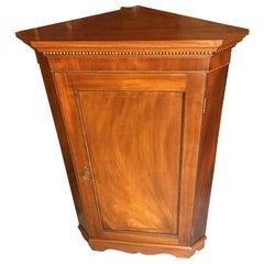 Brown Arts & Crafts Mahogany Corner Cabinet