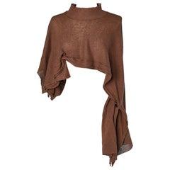 Brown asymmetrical sweater Y's Yohji Yamamoto