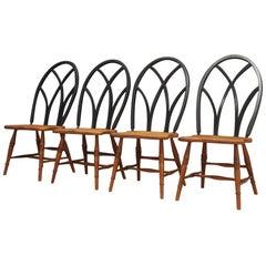 Brown Beech Chairs Danish Design Vintage 1950s Retro