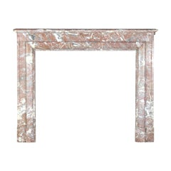 Brown Belgian Marble Timeless Antique Fireplace Surround