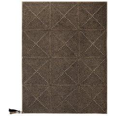 Brown Black Outdoor Indoor Small Rug Handmade Crochet in UV Protected Yarn